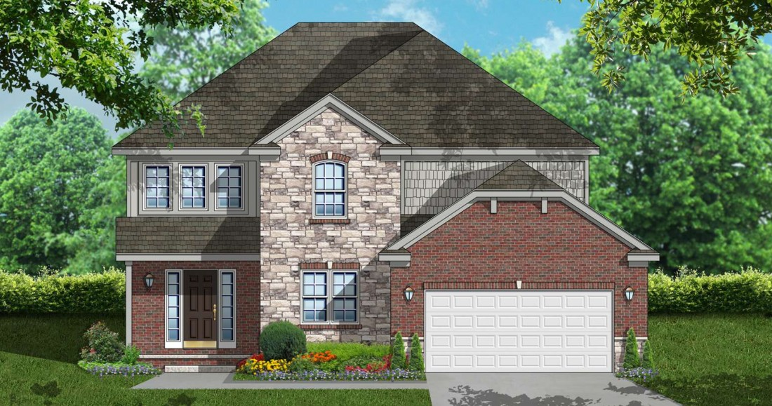 Cloverfield Village - New Construction Homes in Bruce Township MI - rendering-colonial