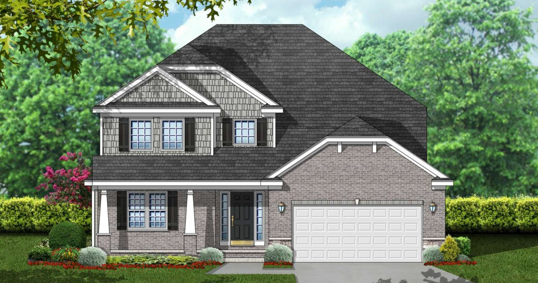 Cloverfield Village - New Construction Homes in Bruce Township MI - rendering-split-level
